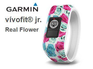 キッズ向けアクティビティトラッカー。GARMIN/ガーミン 100163432 ライフログバンド vivofit jr. Real Flower 【当社取扱いのガーミン商品はすべて日本正規代理店取扱品です】
