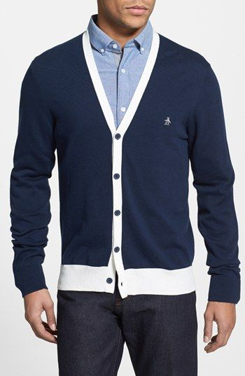 Original Penguin Pima Cotton Cardigan available at #Nordstrom