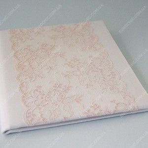 Свадебная папка Pale lace кремово-розовая