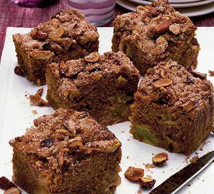Sour cream rhubarb squares recipe - Recipes - BBC Good Food