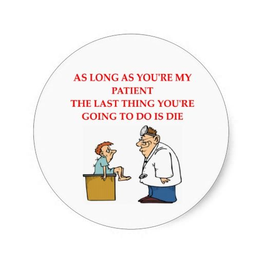 funny doctor joke sticker from Zazzle.