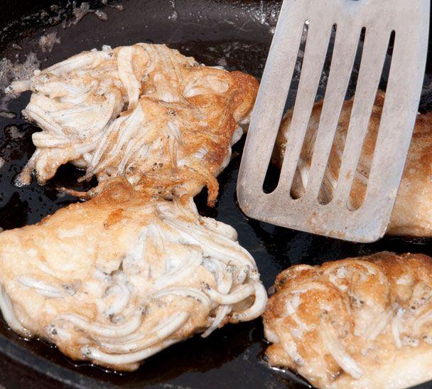 New Zealand Whitebait Fritters - nothing but whitebait, egg, seasoning. Uniquely NZ!