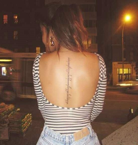 1000+ Ideas About Spine Quote Tattoos On Pinterest