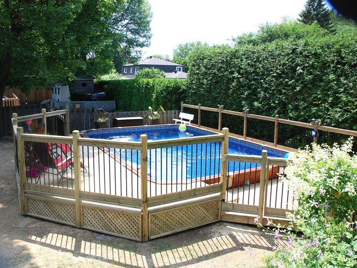 Patios piscine semi-creusée