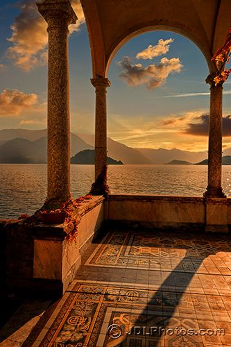 """""""Lake Como Arch"""" by photographer Jim DeLutes, whose photographs of Italy are fea…"""