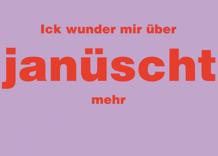 Postkarte: ick wunder mir über janüscht