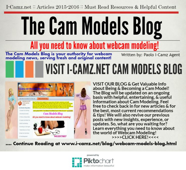 """VISIT NOW """"The Cam Models Blog"""" & LEARN everything you need to know about the world of Webcam Modeling. No Kidding! http://www.i-camz.net/blog/webcam-models-blog.html"""