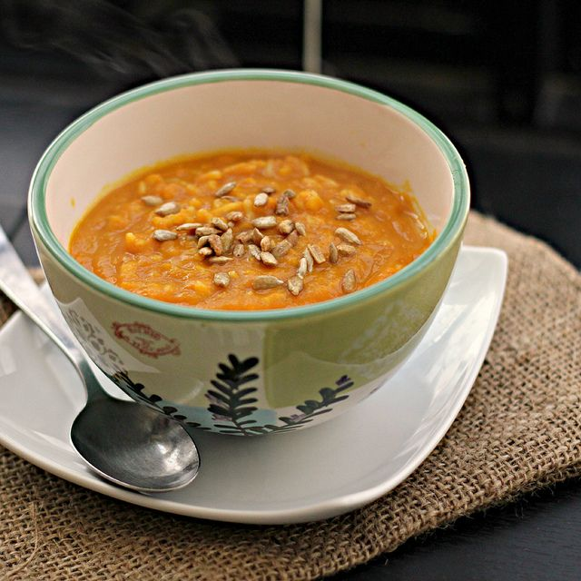 Curried Carrot Soup with Roasted Pepitas by eatswellwithothers, via ...