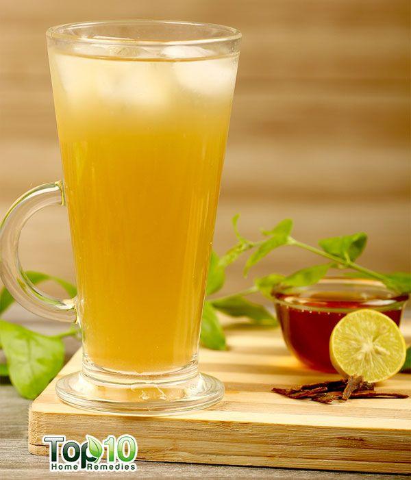 DIY green tea lemonade