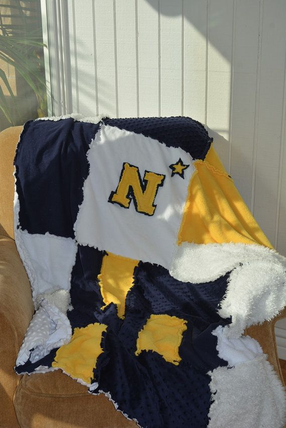 Go Navy. Beat Army. College blanket. by LaLazoch on Etsy