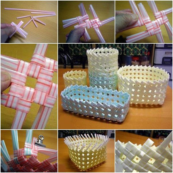 How to Make Straw Basket  canastas de sorbetes