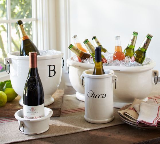 Rhodes Party Bucket & Wine Cooler | Pottery Barn