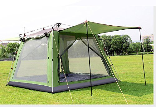 Funs¦? Instant 6 Person Hydraumatic Large Dome Tent Double Layer 2-Door Opening Screened Family Camping Canopy Shelter Tent (10'x10'x7.5') >>> You can get more details by clicking on the image.