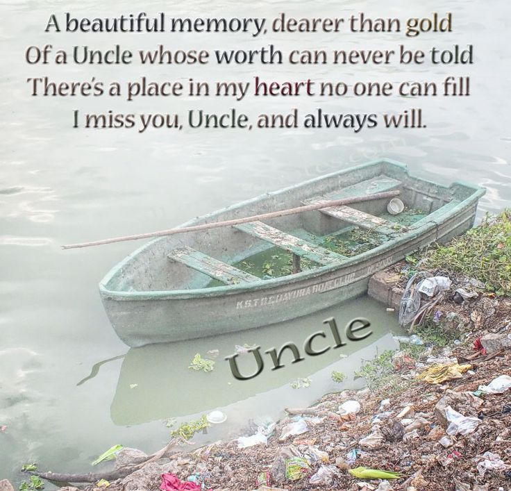In Loving Memory Picture Cards For Uncle