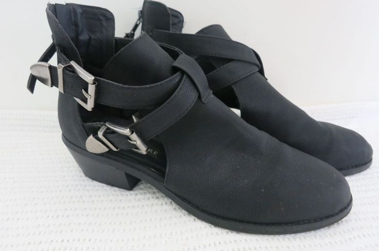 Pied A Terre Ladies Boots Size 9 Open Shoe Low Heel