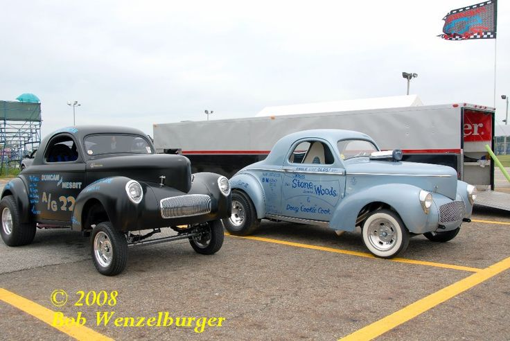 Pair of 1941 Stone Woods Cook Willys Gassers