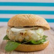 Fish Burger with Wasabi & Lemon Sauce