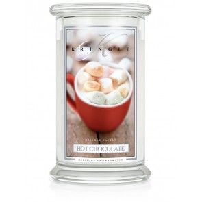 Kringle Candle - HOT CHOCOLATE Large 2 Wick -Our Hot Chocolate is deep, rich and filled with true cocoa goodness - perfect for warming your winter!