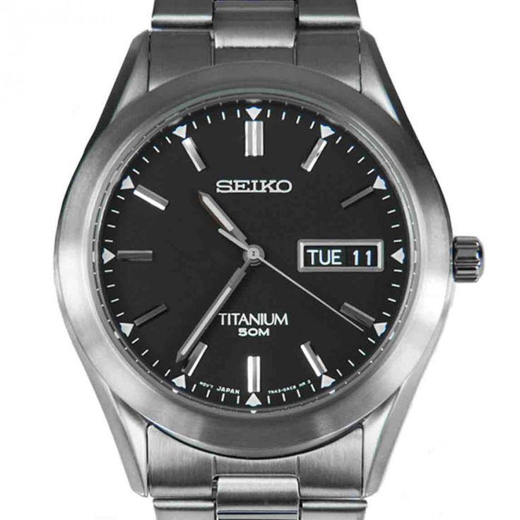 Chronograph-Divers.com - Seiko Titanium Quartz Gents Black Dial Male Casual Watch SGG599P1 SGG599P SGG599, $154.00 (http://www.chronograph-divers.com/seiko-titanium-quartz-gents-black-dial-male-casual-watch-sgg599p1-sgg599p-sgg599/)