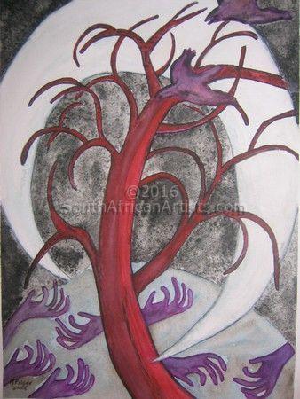 Margrit Prigge - Judas Tree | Spiritual Art Modern Art