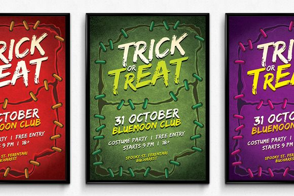 Stitches Halloween Poster by SNK's on Creative Market