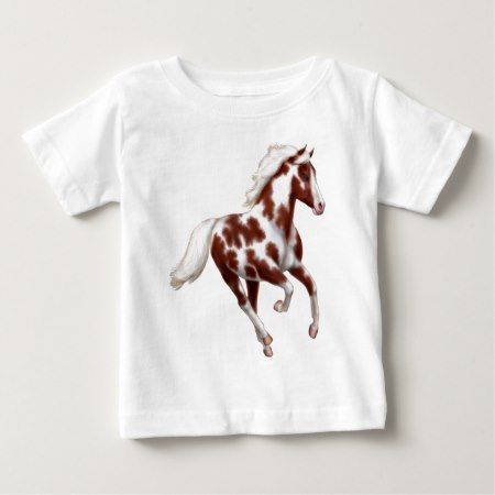 Galloping Paint Horse Infant T-Shirt - click/tap to personalize and buy