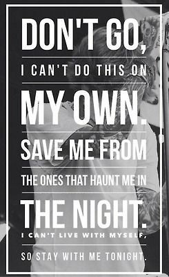 Sam Smith -- Stay With Me -- lyrics<< this is actually don't go by bring me the horizon..
