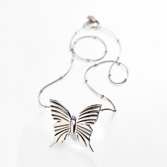Butterfly Halsband, Vit Swarovski Kristall - Carolina Gynning - Carolina Gynning - RoyalDesign.se