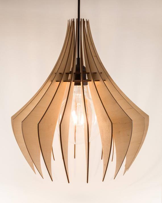 Wooden Lamp Shade Wood Lamp Hanging Lamp Pendant Light Etsy