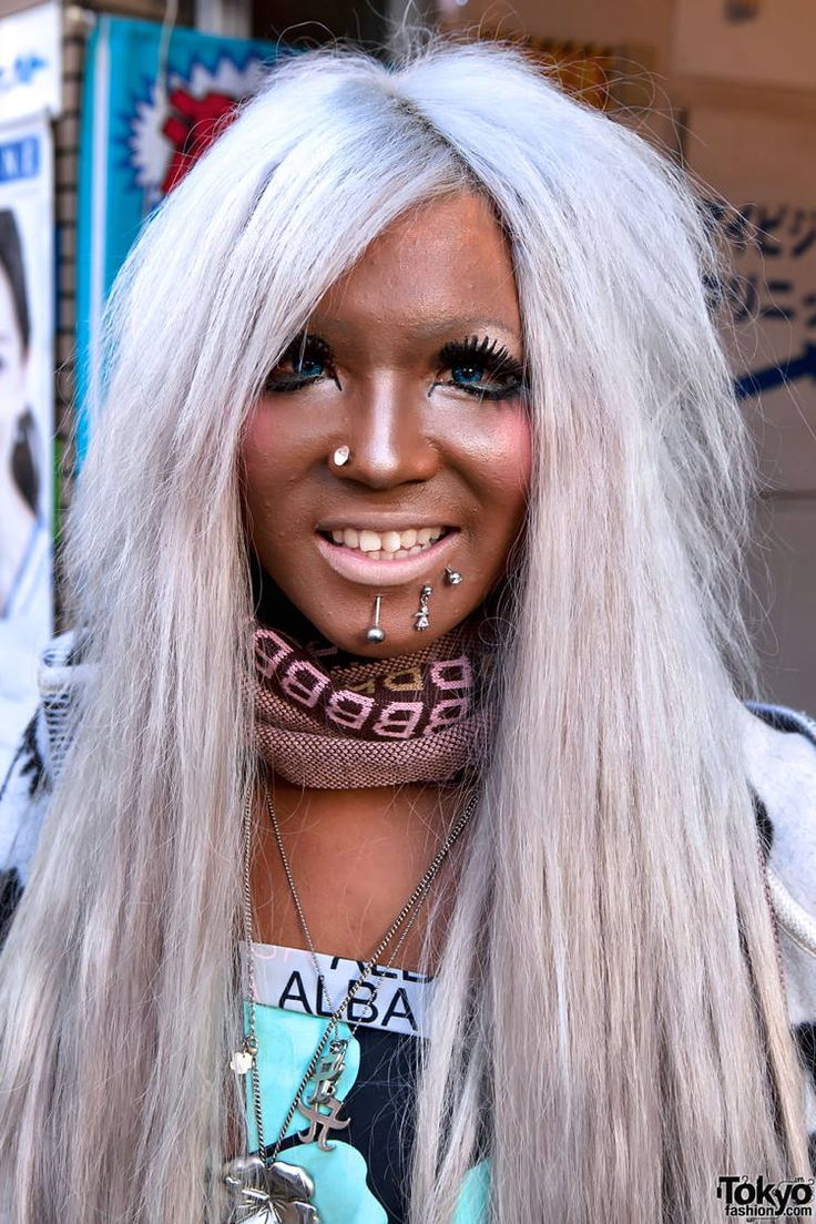 "Here's a weird Japanese trend: Ganguro.  This style actually peaked a decade ago and therefore was not a direct response to The Jersey Shore, like I figured.  BTW Ganguro means ""charbroiled face."""