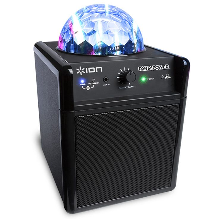 Bocina con proyector de luces led de colores (roja, zul y verde) Marca: Ion Party es portátil con conexión bluetooth / plug 3.5mm, ideal para fiestas, reuniones o eventos especiales por sólo $945 mxn + iva (menudeo).