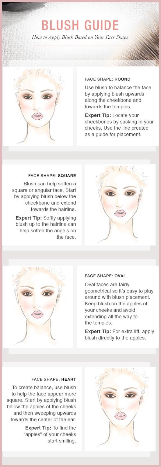 How to apply blush for your face shape. We can help you pick out the perfect glo Minerals blush & brush at Clear Waters Salon & Day Spa.