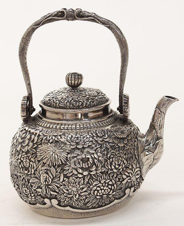 Japanese sterling silver teapot.