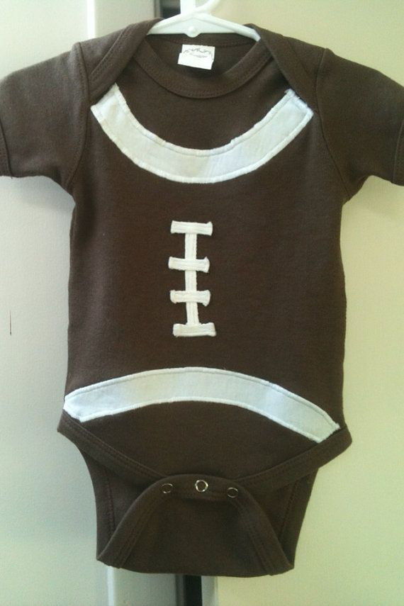 onsie: Football Onesie, Football Onsi, Football Seasons, Baby Kids Clothing, Football Baby, Lil Football, Baby Onesie, Beautiful Baby, Baby Stuff