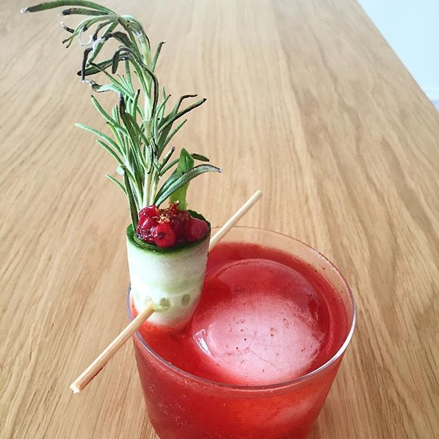 Cucumber, Rosemary & Cranberry Cocktail Garnish (picture only)
