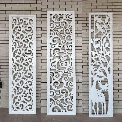 Carving Partitions Pass Flowers Mdf Openwork Carved Panels