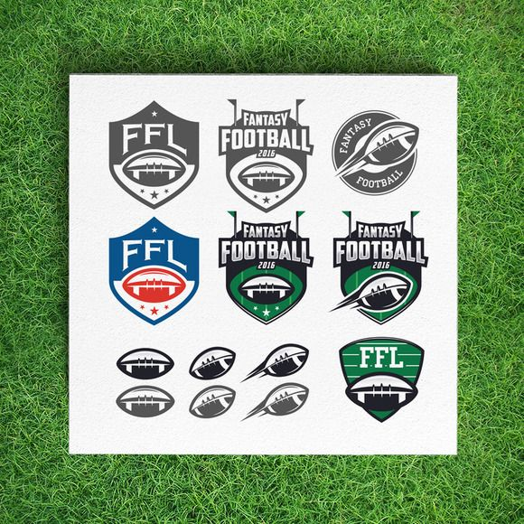 Fantasy football league logos by 1baranov on Creative Market