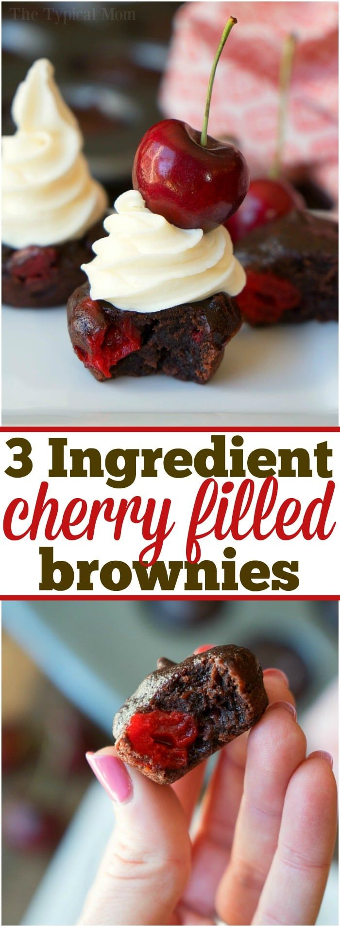 So easy to make these mini cherry brownies!  I made these today and it made 36 mini brownies... yummy!
