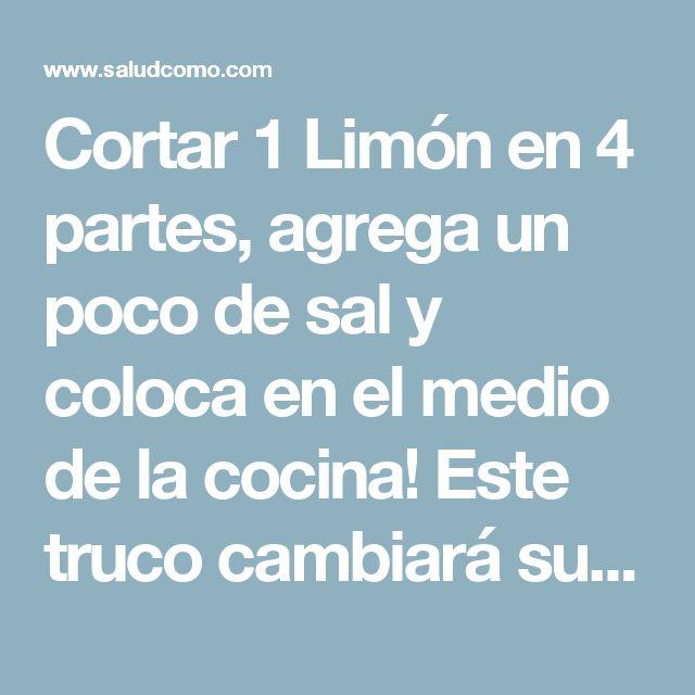 Cortar 1 Limón en 4 partes, agrega un poco de sal y coloca en el medio de la cocina! Este truco cambiará su vida! | Salud Como
