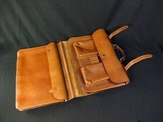 Vintage J Peterman 1928 Air Corps Belting Leather Portfolio Messenger Briefcase | eBay-SR