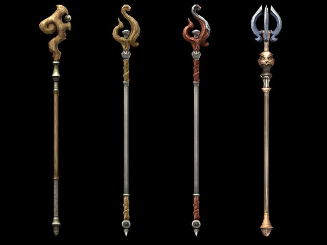 Magic staff design 3d model