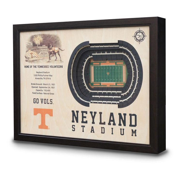 Tennessee Neyland Stadium 3D View Wall Art