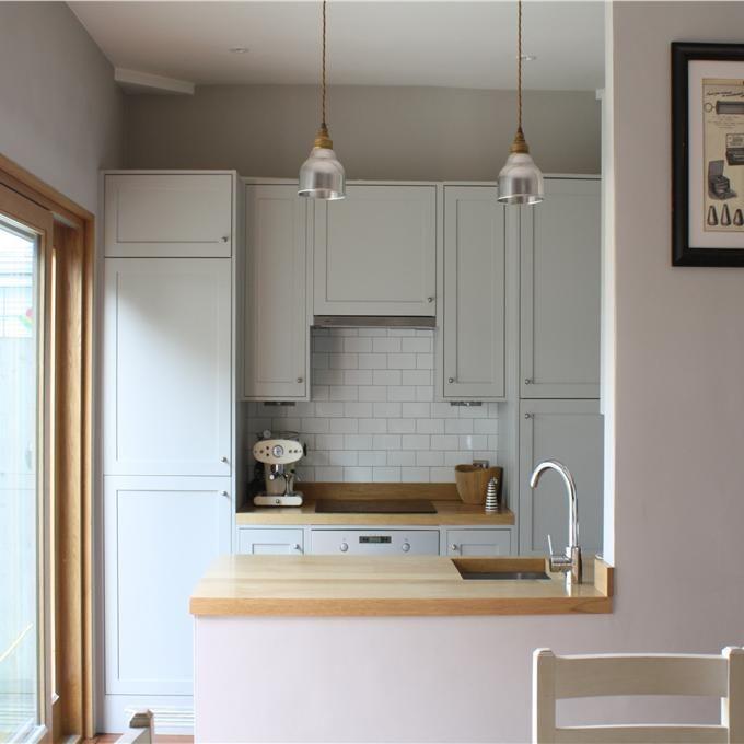 Kitchen diner in Cornforth White & Pavillion Gray..love the paint colouRs