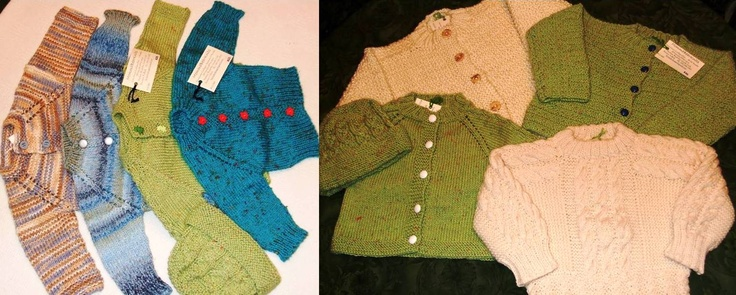 Toddlers and Baby Cardigans & 1 Pullover.