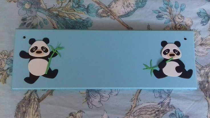 Panda Nursery Door Name Plaque Name Sign Personalised. Any Name/Names Any colours. Baby Nursery Decor Children's Bedroom Decor Pandas Name by FairylandDecor on Etsy