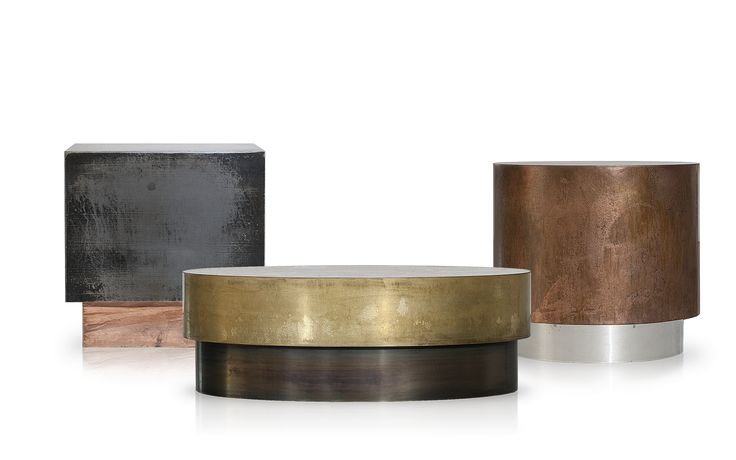 LOREN table in burnished and antiqued brass (middle one) - Draga e Aurel for Baxter.  Cavit & Co.  $8960