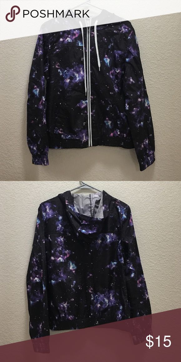 Zine Galaxy windbreaker Bought from Zumiez. Girls/Boys size L Feel free to ask questions! Jackets & Coats