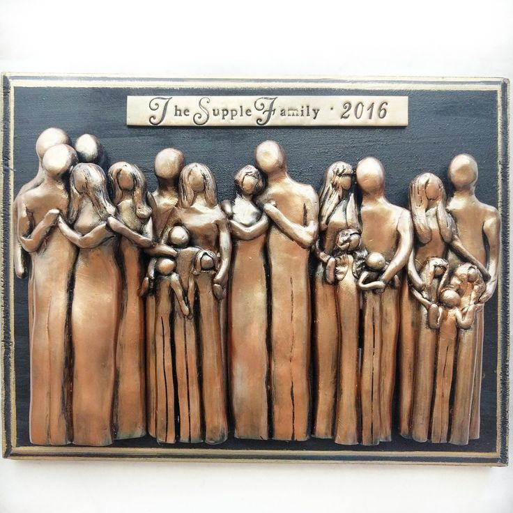Anniversary Gift, Unique Family Portrait, Wall Art, Valentine's Day Gift Idea, Gift for Parents, Gift for Husband, Gift for Wife, Wedding Anniversary Gift, Bronze 8th Anniversary, Personalized Gifts