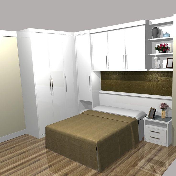 25 melhores ideias de quarto planejado casal pequeno - Armarios para dormitorios pequenos ...
