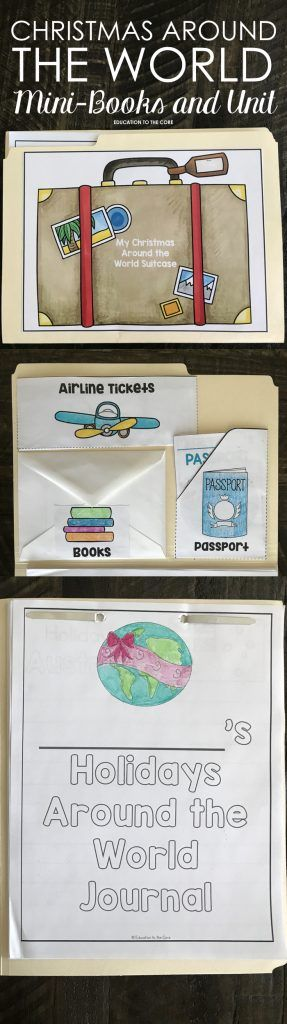 Christmas Around the World File Folder Suitcase